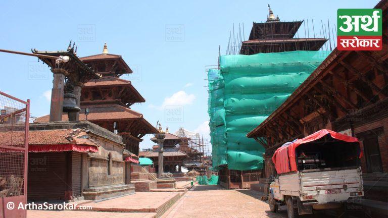 पाटनमा 'कृष्णजी' एक्लै, १५ तस्विरमा हेर्नुहोस् दरबार क्षेत्रको सुनसान-कथा (फोटो-फिचर)