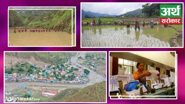 देश बोल्ने फोटो कथा : जोखिममा डोल्पाको दुनै बजारका स्थानीय बस्ती, तनहुँ र अर्घाखाँचीमा रोपाईंको चटारो