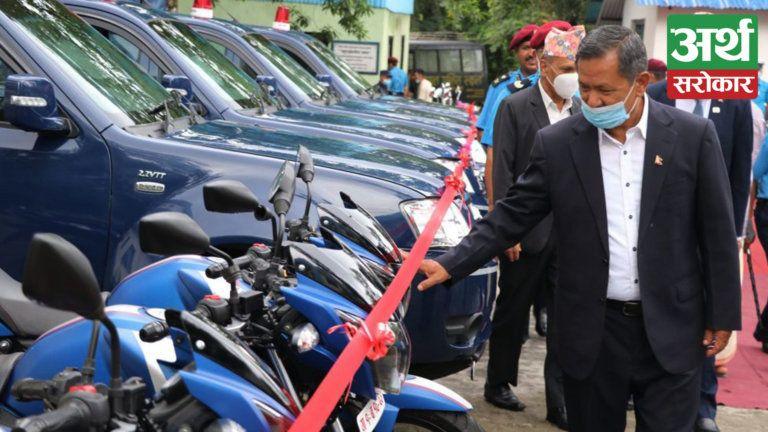 प्रदेश सरकारद्वारा प्रहरीलाई सवारी साधन हस्तान्तरण, आम नागरिकमा शान्ति सुरक्षा तथा अमनचैनको प्रत्याभूति दिलाउने उद्देश्य
